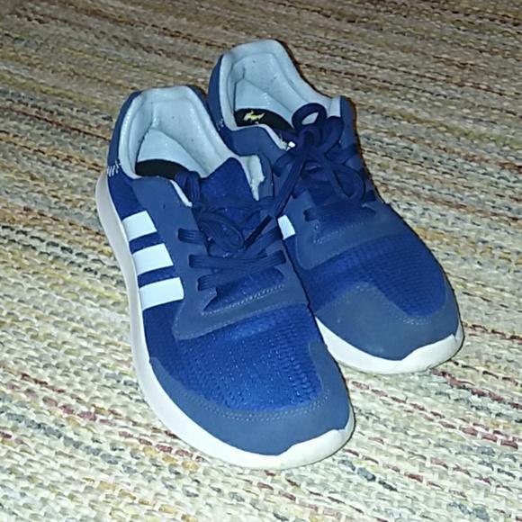 Adidas cloudfoam navy blue running shoes